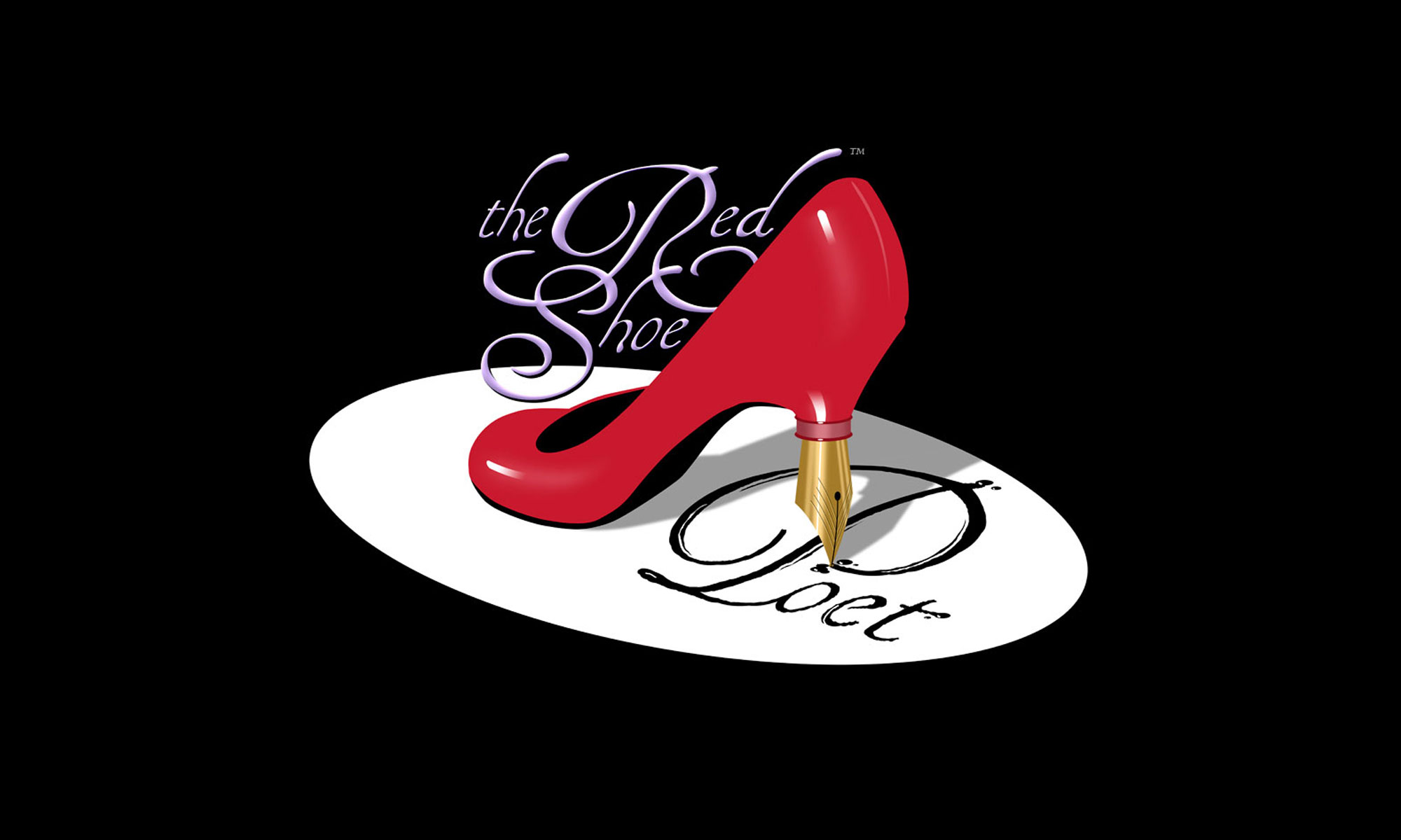 Red Shoe Poet Logo - Black