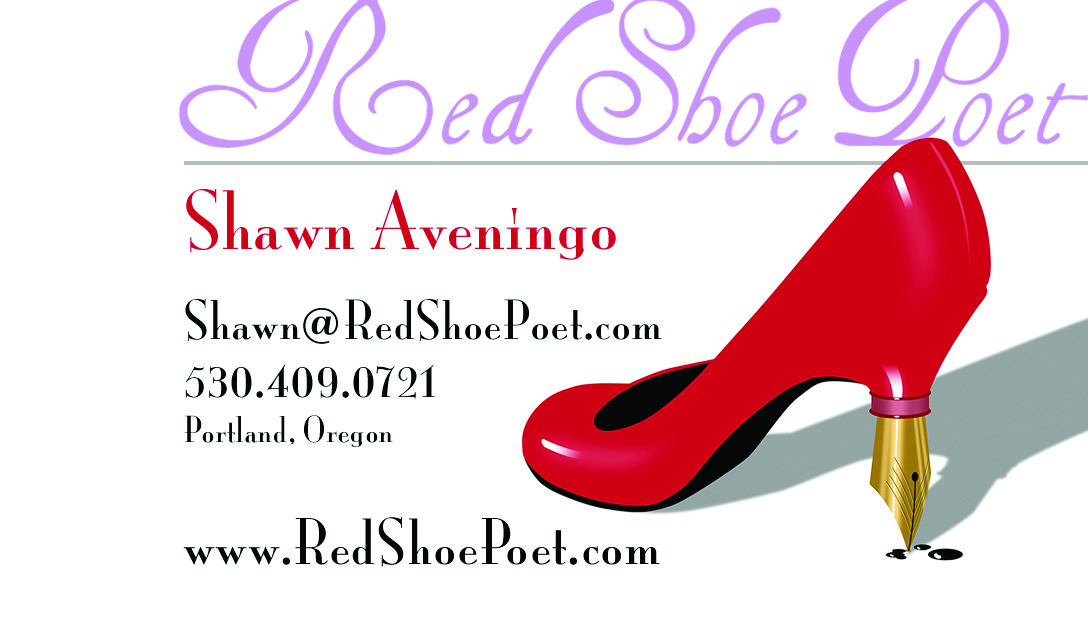 Red Shoe Poet Business Card